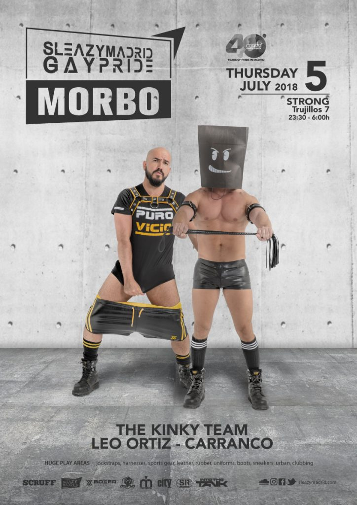 SLEAZYMADRID 1 MORBO GayPride 2018 Thursday 5 July